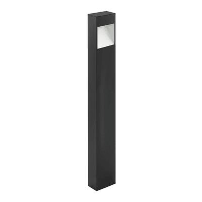 Lampioncino Manfria H38cm LED integrato in alluminio antracite e bianco 10W 830LM IP44 EGLO