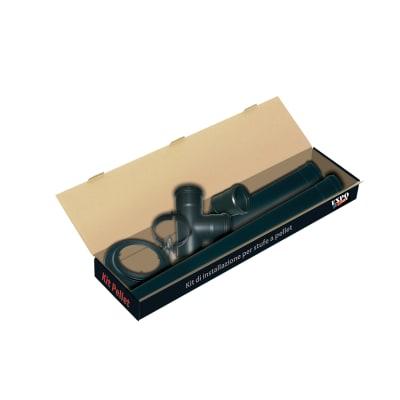 Raccordo per canna fumaria in acciaio smaltato Ø 80 mm