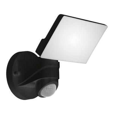 Proiettore LED integrato con sensore di movimento Pagino in policarbonato, nero, 6W 2300LM IP44 EGLO