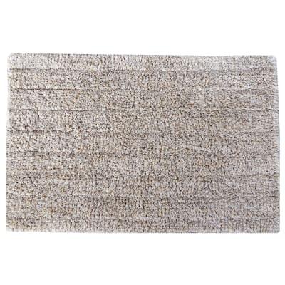 Tappeto bagno rettangolare Essential moon in cotone silver 60 x 40 cm