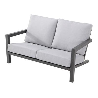 Divano in alluminio colore grigio