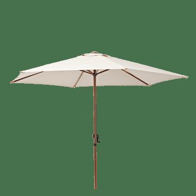Ombrellone Polar L 2.62 x P 2.62 m color tortora