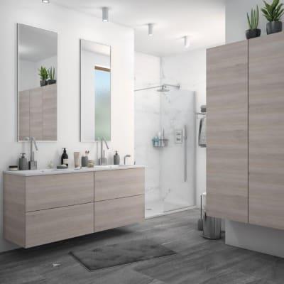 Mobile bagno Neo3 rovere grigio L 120 cm