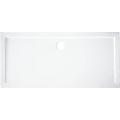 Piatto doccia acrilico rinforzato fibra di vetro Essential 70 x 120 cm bianco