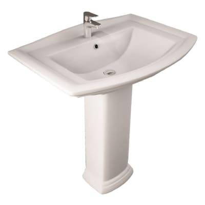 Colonna per lavabo washington H 68 cm in ceramica bianco
