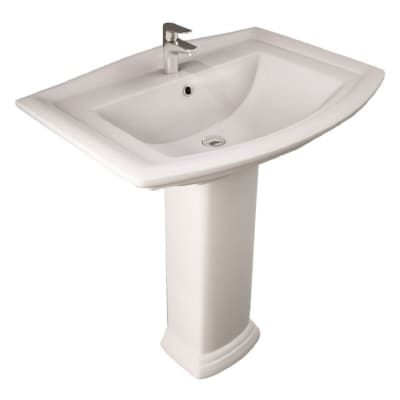Lavabo Washington L 65 x P 65 cm in ceramica bianco
