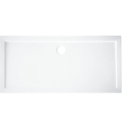 Piatto doccia acrilico rinforzato fibra di vetro Essential 80 x 120 cm bianco