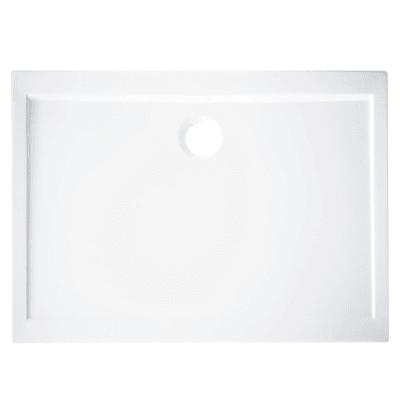 Piatto doccia acrilico rinforzato fibra di vetro Essential 70 x 90 cm bianco