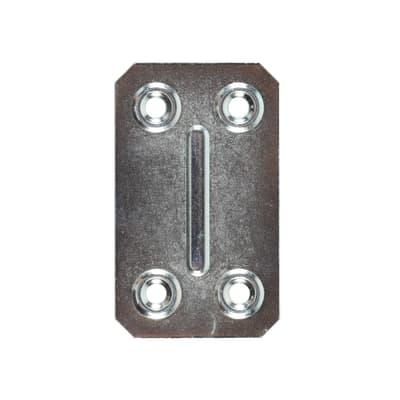 Piastrina in acciaio 67 x 40 mm