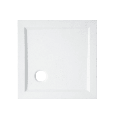 Piatto doccia acrilico rinforzato fibra di vetro Essential 80 x 80 cm bianco