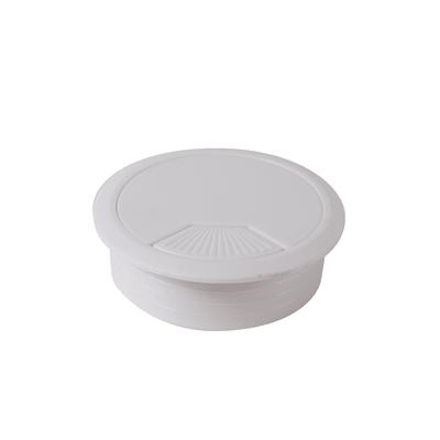 Copri passa-cavo in plastica bianco Ø 60 mm