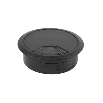 Copri passa-cavo in plastica nero Ø 80 mm