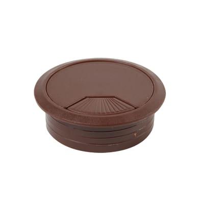 Copri passa-cavo in plastica marrone Ø 60 mm