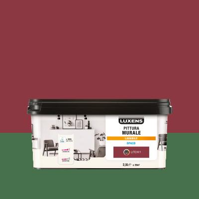 Pittura murale LUXENS 2.5 L rosso litchi 1
