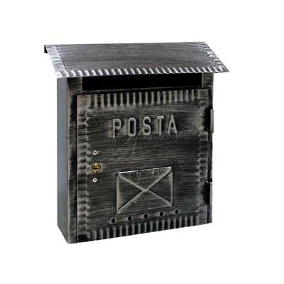 Cassetta postale formato Lettera, nero brunito, L 26 x P 10 x H 26.5 cm