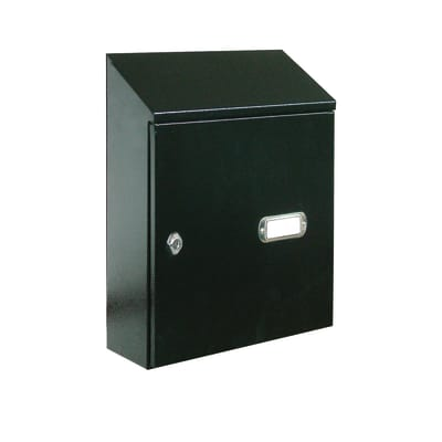 Cassetta porta pubblicità L 312 x P 125 x H 395 mm colore nero