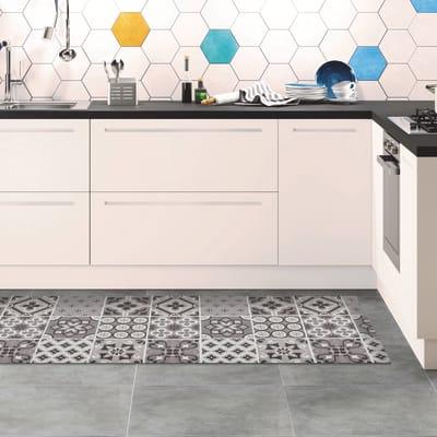 Passatoia Relax ceramic , grigio medio, 50x230
