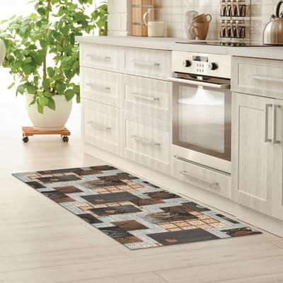 Tappeto cucina antiscivolo Full nodo marrone 55x130 cm