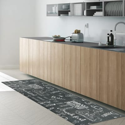 Tappeto Blackboard , grigio, 50x170 cm