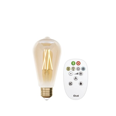 Lampadina LED, E27, Goccia, Ambra, CCT, 9W=806LM (equiv 60 W), 330° , JEDI