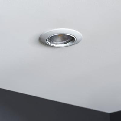 Faretto orientabile da incasso orientabile tondo Clane in alluminio, bianco, diam. 8.2 cm 2.46x8.2cm GU10 6W IP23 INSPIRE