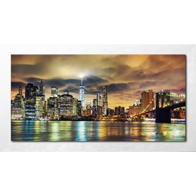 Quadro con cornice Night 136x76 cm