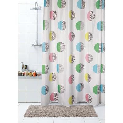 Tenda doccia Biglie in poliestere multicolore L 180 x H 200 cm