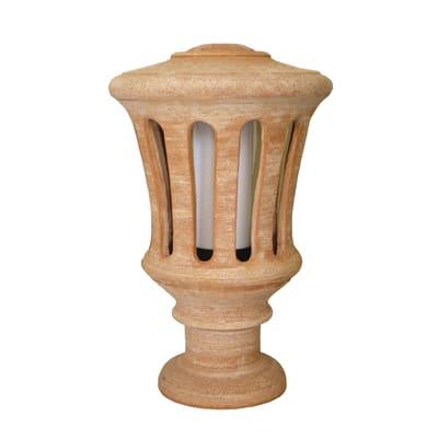Lampioncino Galestro H45cm in ceramica, ramato, E27 1xMAX40W IP23