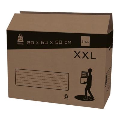 Scatola da imballaggio 2 onde H 60 x L 80 x P 50 cm