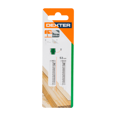 Set lame per seghetto alternativo DEXTER in hcs L 76.7 mm 2 pezzi