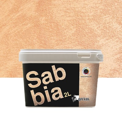 Pittura decorativa GECKOS Sabbia 2 l arancio effetto sabbiato