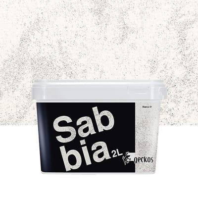 Pittura decorativa Sabbiato 2 l bianco effetto sabbiato