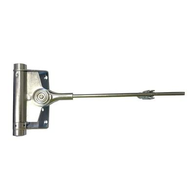 Chiudiporta a molla colore grigio / argento apertura a destra portata 80 kg