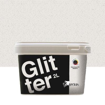 Pittura decorativa GECKOS Glitter 2 l grigio effetto paillette