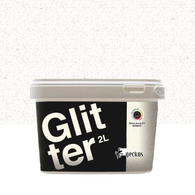 Pittura decorativa GECKOS Glitter 2 l bianco effetto paillette
