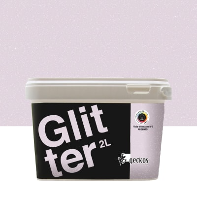 Pittura decorativa GECKOS Glitter 2 l viola melanzana 6 effetto paillette