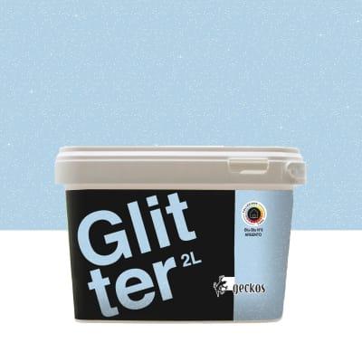 Pittura decorativa GECKOS Glitter 2 l blu 6 effetto paillette