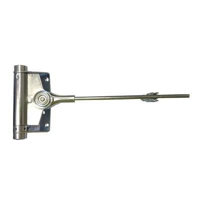 Chiudiporta a molla colore grigio / argento apertura a destra portata 60 kg