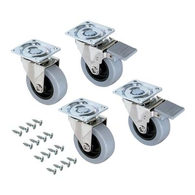 Rotella per mobili EMUCA Slip2 in caucciù grigio Ø 75 cm 4 pezzi