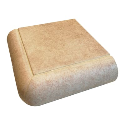 Bordo angolare Cement H 4 cm beige