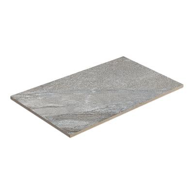 Gres porcellanato etna dark grey resistente al freddo 80 x 60 cm grigio / argento  0.64 mq