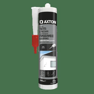Silicone sigillante AXTON Tetti e Grondaie nero 280 ml