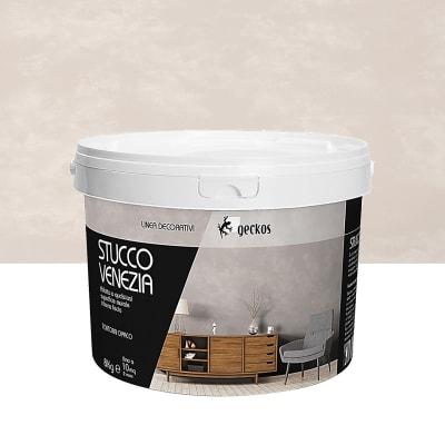 Pittura decorativa GECKOS Stucco 8 kg marrone tortora effetto cemento