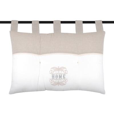 Cuscino Testata letto Charline ecrù 70x45 cm