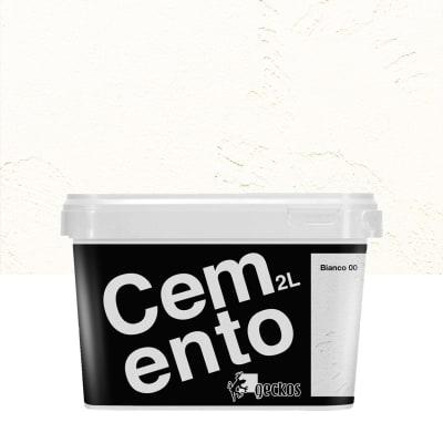 Pittura decorativa GECKOS Cemento 2 l bianco effetto cemento