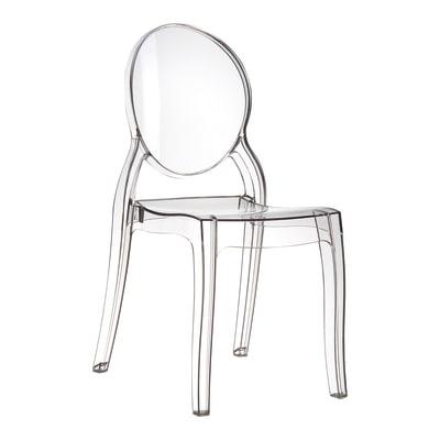 Sedia in policarbonato Elizabeth, set da 4, colore