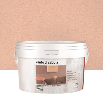 Pittura decorativa RMD DECORAZIONE Vento di sabbia 1.5 l ambrato effetto sabbiato