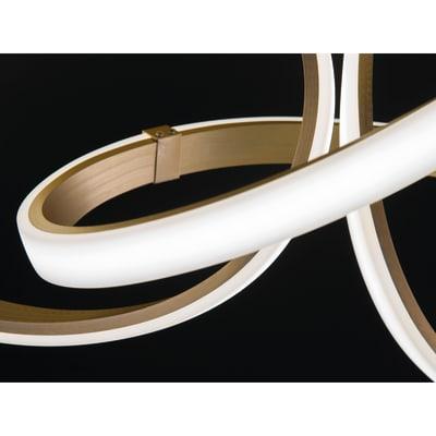 Plafoniera glamour INDIGO LED integrato giallo, in metallo, 95 cm, 2  luci WOFI