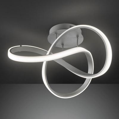 Plafoniera moderno INDIGO LED integrato grigio, in metallo,  D. 59 cm 59x59 cm, WOFI