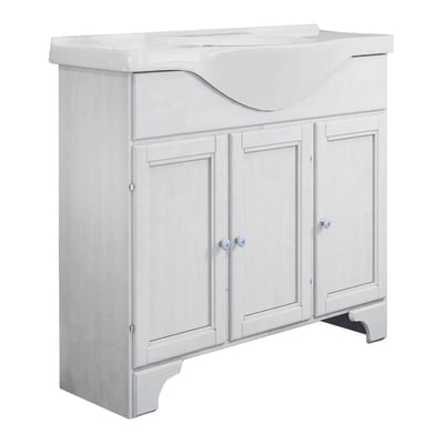 Mobile bagno Laura bianco L 86 cm